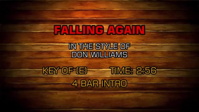 Don Williams - Falling Again