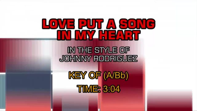 Johnny Rodriguez - Love Put A Song In...