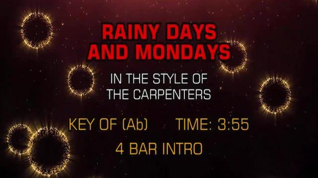 Carpenters, The - Rainy Days And Mondays