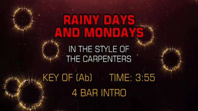 Carpenters, The - Rainy Days And Mondays