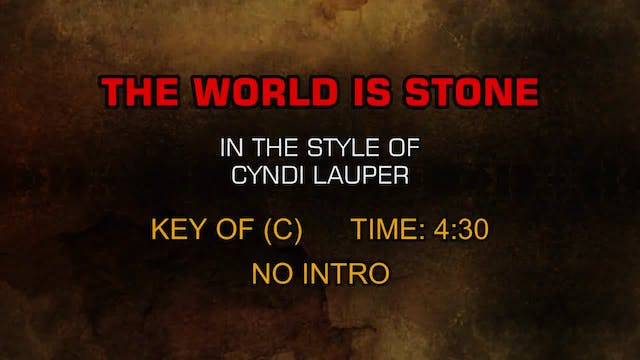 Cyndi Lauper - The World Is Stone