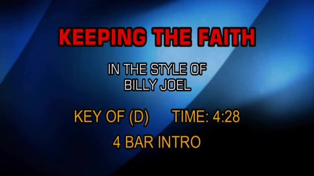 Billy Joel - Keepin' The Faith