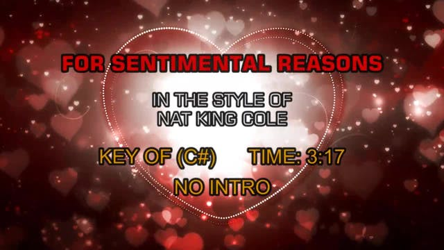 Nat King Cole - For Sentimental Reasons