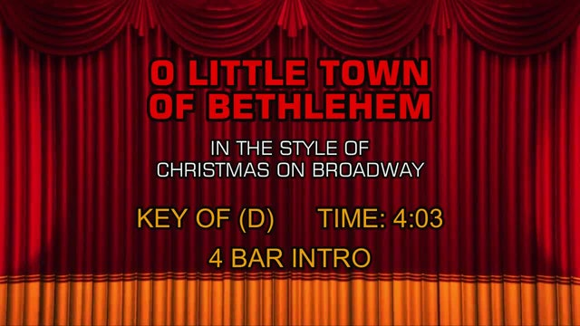 Christmas On Broadway - O Little Town of Bethlehem