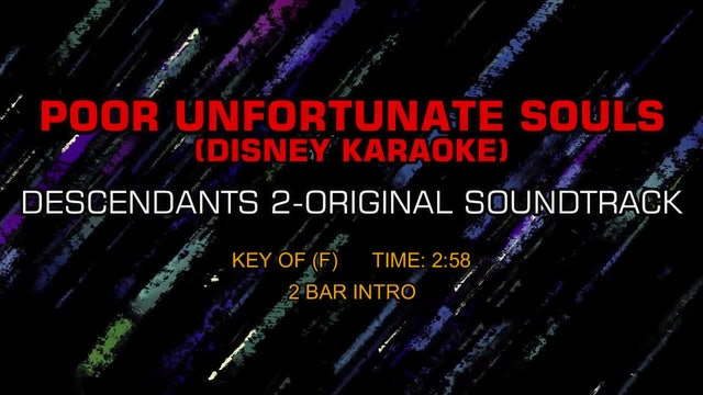 Descendants 2-Original Soundtrack - Poor Unfortunate Souls