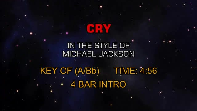 Michael Jackson - Cry (You Can Change...