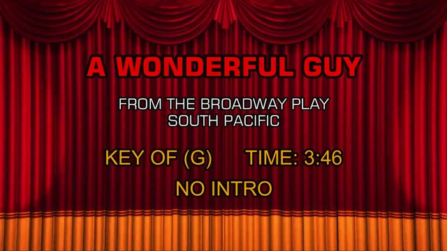 South Pacific - A Wonderful Guy
