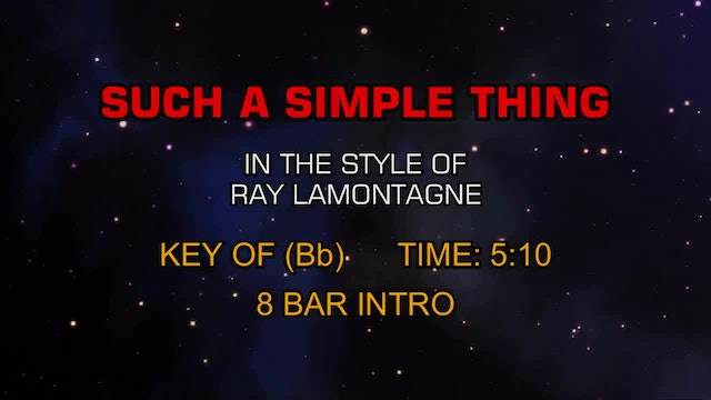 Ray Lamontagne - Such A Simple Thing