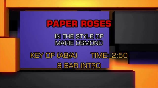 Marie Osmond - Paper Roses