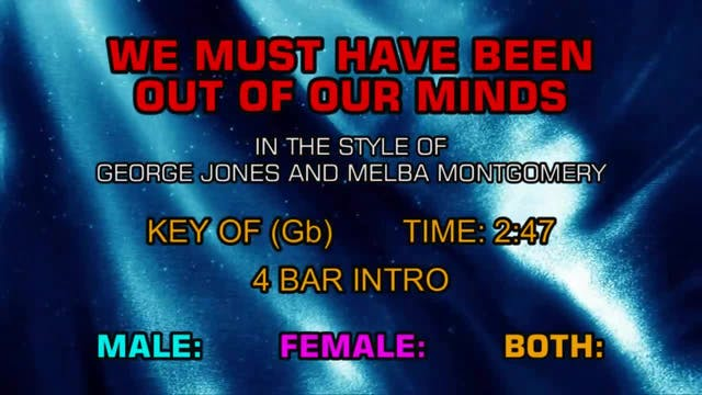 George Jones & Melba Montgomery - We ...