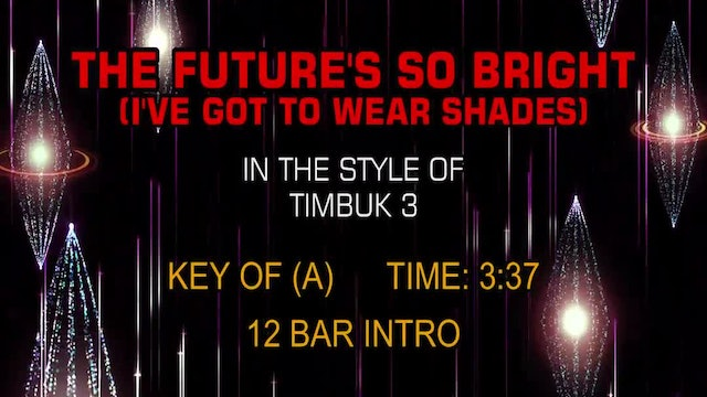 TimBuk 3 - Future's So Bright, The (I've Got To Wear Shades)