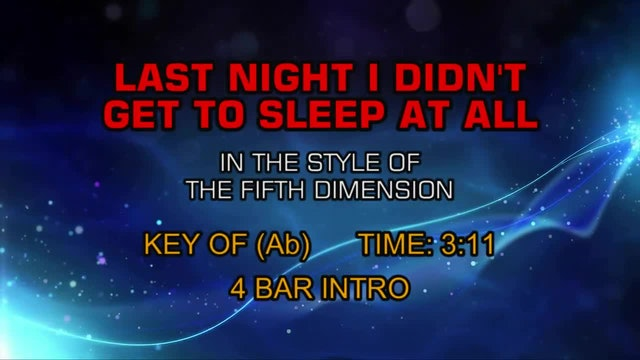 The 5th Dimension - Last Night I Didn't Get To Sleep At All