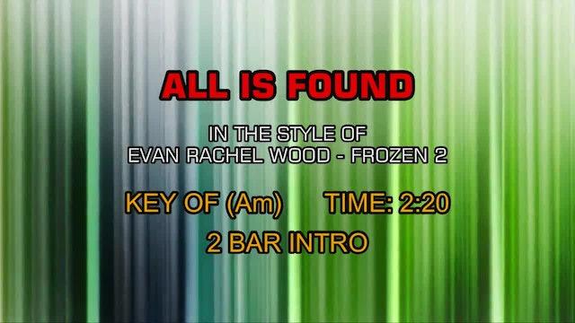 Frozen 2 - All Is Found