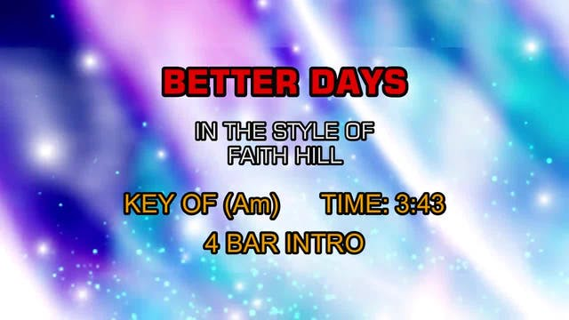 Faith Hill - Better Days