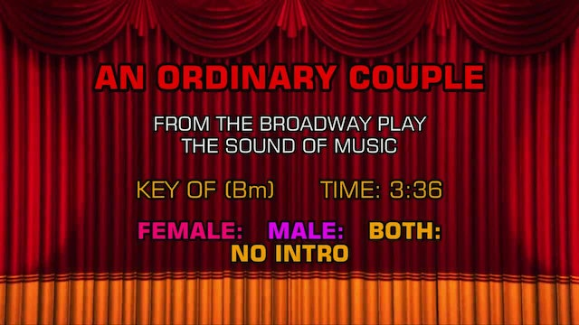 Sound of Music - An Ordinary Couple