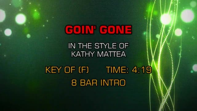 Kathy Mattea - Goin' Gone
