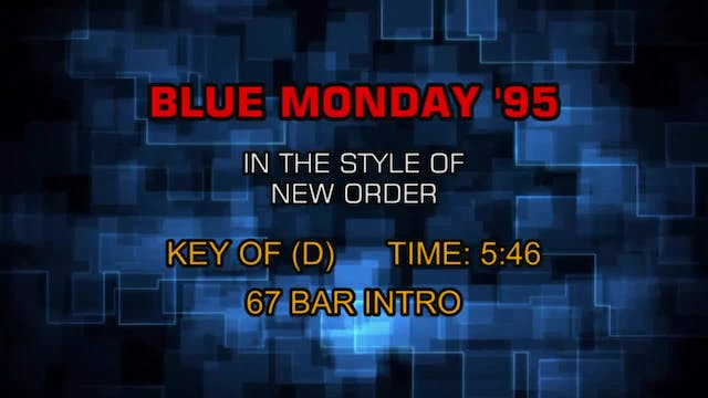 New Order - Blue Monday '95