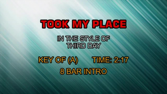 Third Day - Took My Place