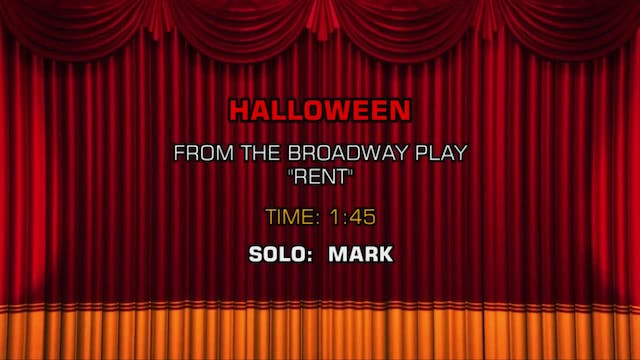 Songs From Rent - Halloween