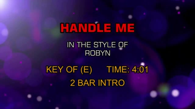 Robyn - Handle Me