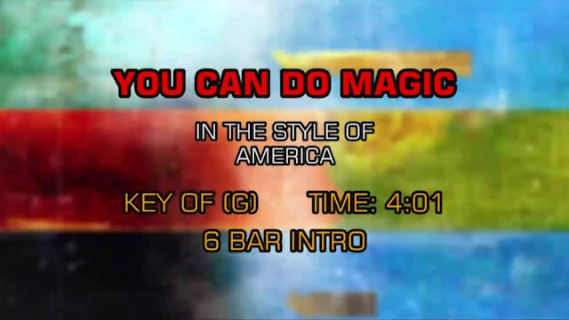 America - You Can Do Magic