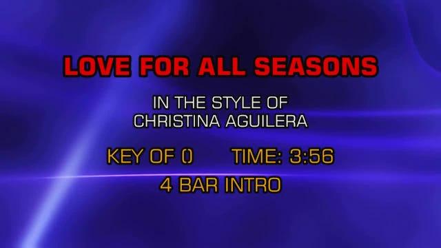 Christina Aguilera - Love For All Seasons