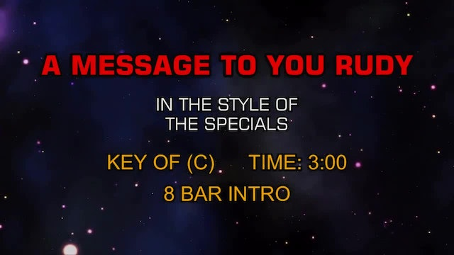 Specials, The - A Message To You Rudy