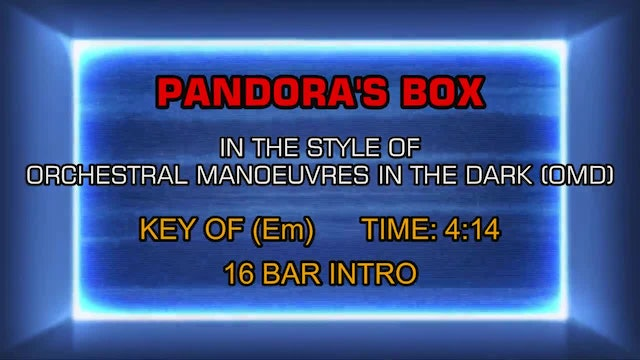 Orchestral Manoeuvres In The Dark (OMD) - Pandora's Box