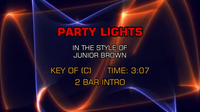 Junior Brown - Party Lights