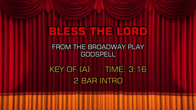 Godspell - Bless The Lord