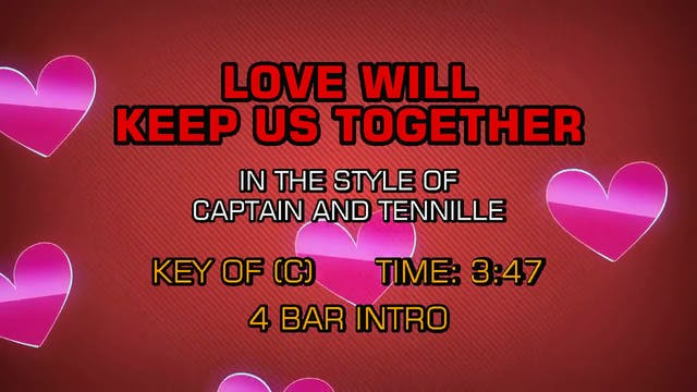 Captain & Tennille - Love Will Keep U...