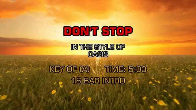 Oasis -Don't Stop
