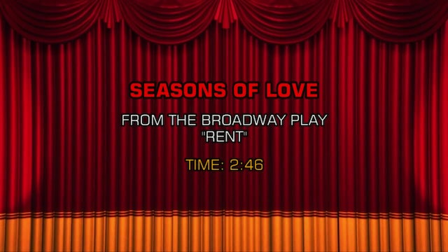 Songs From Rent - Seasons Of Love