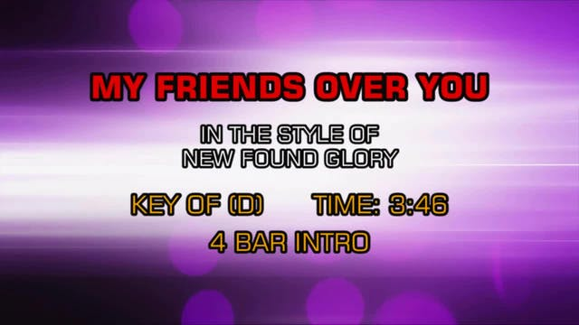 New Found Glory - My Friends Over You