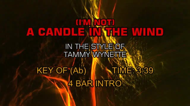 Tammy Wynette - (I'm Not) A Candle In...
