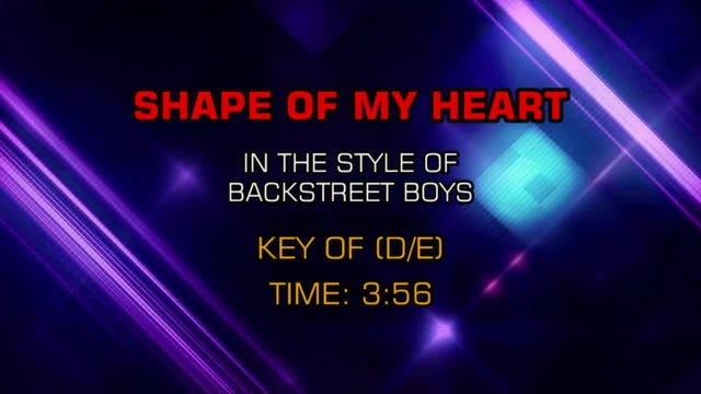 Backstreet Boys - Shape Of My Heart