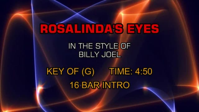 Billy Joel - Rosalinda's Eyes
