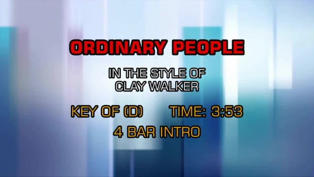 Clay Walker - Ordinary People