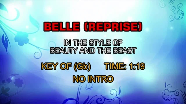 Beauty And The Beast - Belle (Reprise)