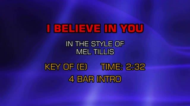 Mel Tillis - I Believe In You