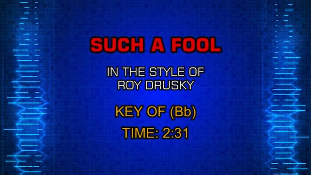 Roy Drusky - Such A Fool