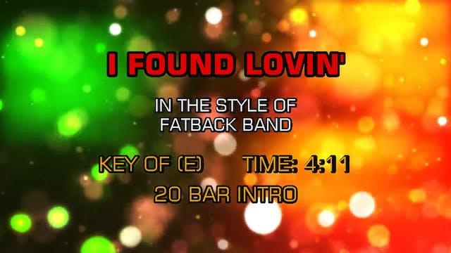 Fatback Band - I Found Lovin'