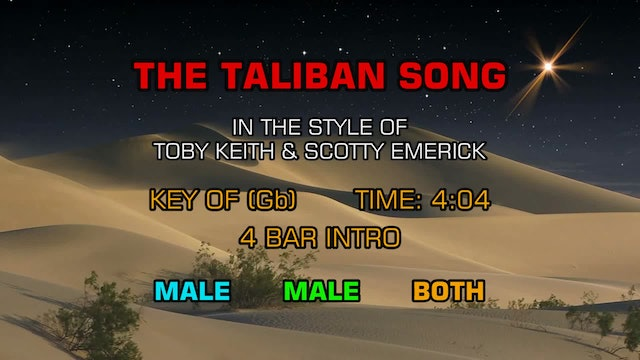 Toby Keith and Scotty Emerick - The Taliban Song