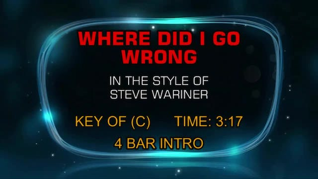 Steve Wariner - Where Did I Go Wrong