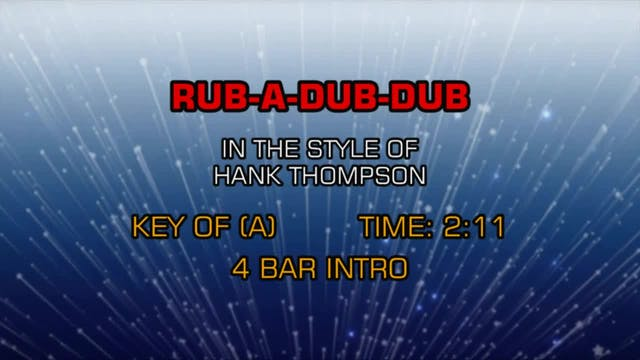 Hank Thompson - Rub-A-Dub-Dub