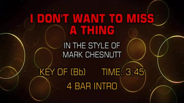 Mark Chesnutt - I Don't Want To Miss ...
