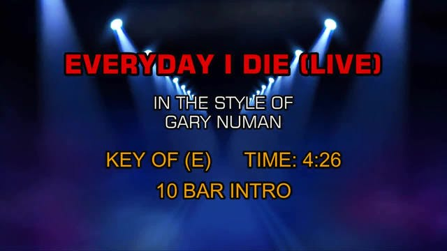 Gary Numan - Every Day I Die (Live)