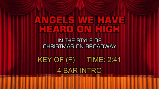 Christmas On Broadway - Angels We Hav...