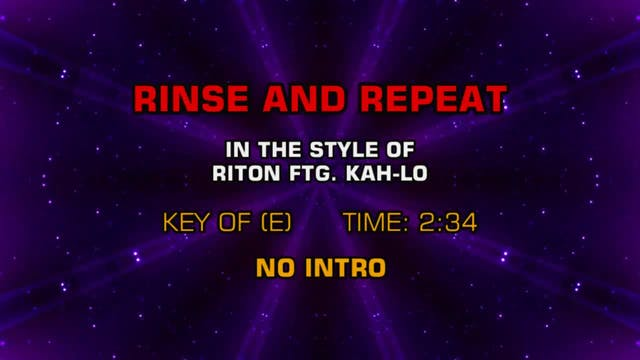 Riton ftg. Kah-Lo - Rinse And Repeat