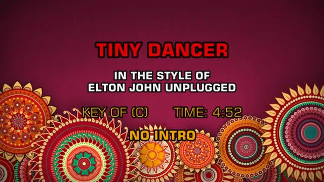 Elton John - Unplugged - Tiny Dancer